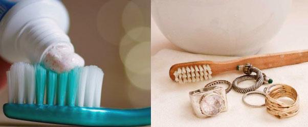 Comparte con tu empleada doméstica un uso alternativo para la crema dental y úsala para limpiar tus accesorios
